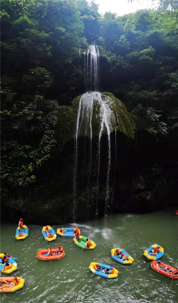 清凉一夏!2019开阳县南江大峡谷趣味漂流挑战赛激情开赛